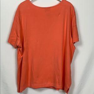 Quacker Factory Tops - Quacker Factory peach short sleeved top size 2X